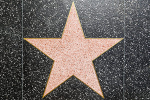 Los Angeles, USA - June 24, 2012: empty star on Hollywood Walk of Fame in Hollywood, California. This star is located on Hollywood Blvd. and is one of 2400 celebrity stars.